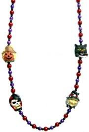 42in Pumpkin/ Witch/ Skull/ Black Cat Halloween Necklace