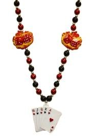 Flaming Dice Necklace