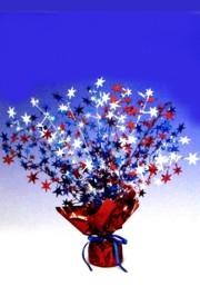 15in Patriotic Star Gleam N Burst Centerpiece