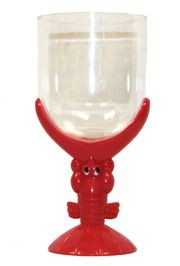 7in Tall x 3.5in Wide 13oz Plastic Lobster Glass