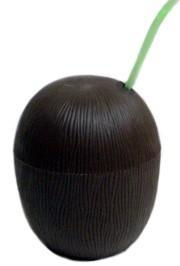 5in x 5in diameter Plastic Coconut Cup