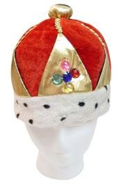 Plush Imperial Red/ Gold Queens Crown