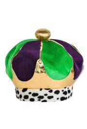 9 1 2in Tall Plush Regal Mardi Gras Crown d2d44965b4cc