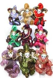 6in x 3in Jester Magnet Doll