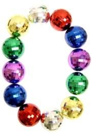 48in 100mm Disco Ball Shape Assorted Color Beads