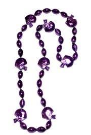 36in Metallic Purple Football Helmet Beads
