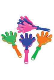 7in x 3-1/2in Purple/ Green/ Yellow Hand Clappers