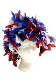 Red/White/Blue Feather Boa Hat