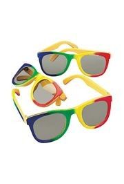 5in Wide Plastic Rainbow Glasses/ Sunglasses