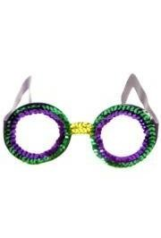 6in x 2 1/2in Mardi Gras Glitzy Glasses/ Sunglasses