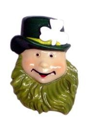 2in x 1.5in St Patricks Leprechaun Pin/ Brooch