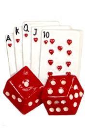 1.5in x 2in Casino Dice/ Card Pin/ Brooch