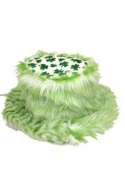 6in Tall Shamrock Furry Hat