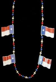 42in Texas Flag Necklace