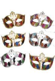 Paper Mache Masks: Assorted Color Domino