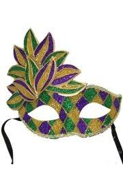 Venetian Paper Mache Masks: Mardi Gras Domino