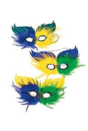 Purple Green and Gold Feather Mardi Gras/ Masquerade Mask