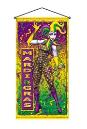 Door decorations and border trim are great inside and out as well as for the home and office. For door decorations we carry Mardi Gras Door Hangers and Door Curtains. For the trim we have Crepe Streamers, Garland, Mardi Gras Bunting, Mardi Gras Wreaths, Pennant Flags, and Glittered Peacocks.