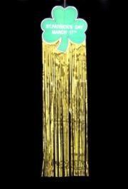 9 3/4in x 36in St Patrick's Day Shamrock/ Clover Drop Fringe