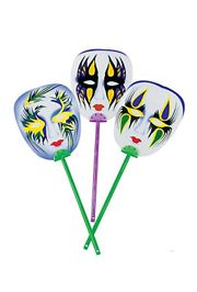 5in x 6.5in Plastic Mardi Gras Mask Fan