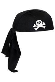 black pirate scarf hat