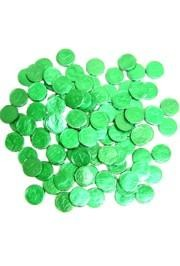 St Patricks Shamrock/ Clover Bubble Gum Coins/ Doubloons Candy{moonpies, pinata, st patrick, shamroc
