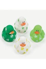 1 3/4in Vinyl Mini St Patrick's Day Rubber Duckies