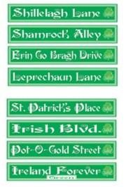 4in x 24in St Patricks Day Street Sign Cutouts