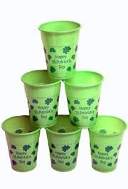 16oz Thin Plastic and Disposable St Pats Day Cups