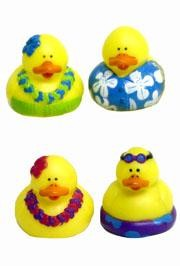 2in x 2in Luau/ Hawaiian Rubber Duck