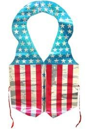 Adult Size Laser Patriotic Vests