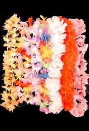 32-36in Long Assorted Styles/ Color Simulated Silk Flower Leis