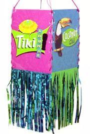 11.5in x 5in Foil Fringed Hawaiian/ Luau/ Tiki Lantern