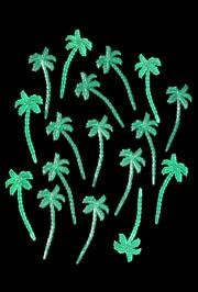 3in Plastic Palm Tree Picks