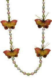 Butterfly Mardi Gras beads for Carnival parades and parties