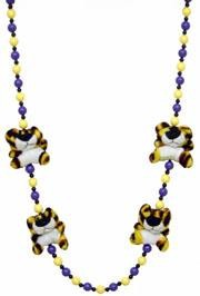 42in LSU Tiger Plush Necklace