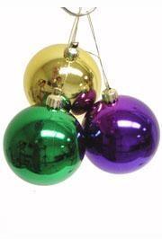 40mm Metallic Purple Green and Gold Ornaments Ball