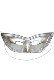 Silver Lamei Cat Eye Masquerade Mask