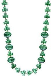 42in St Pats Shamrock/ Clover Necklace w/ Lips