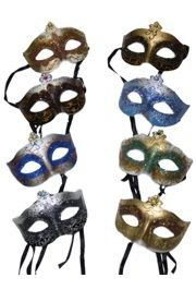 Paper Mache Masks: 8 Assorted Hand Painted Venetian Masks