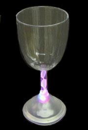 10oz Plastic Light Up Wine Glass