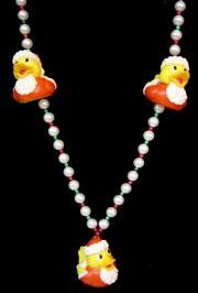 42in Santa Rubber Duck Necklace