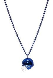 Blue Football Helmet Necklace