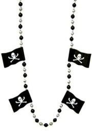 Pirate Flag Beads Necklace