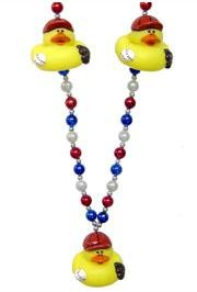 42in Baseball Rubber Duck Necklace