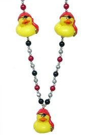 42in Squeaky Pirate Rubber Duck Necklace