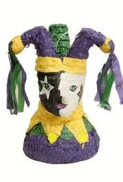 14in x 10in Hollow Mardi Gras Jester Pinata