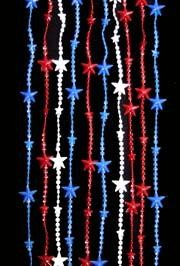8ft x 3ft Patriotic Plastic Beaded Curtain w/ Star