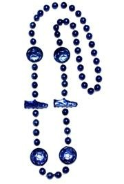 36in Metallic Blue Soccer Beads
