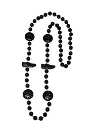 36in Metallic Black Soccer Beads